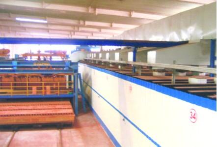 空心砖隧道窑生产线